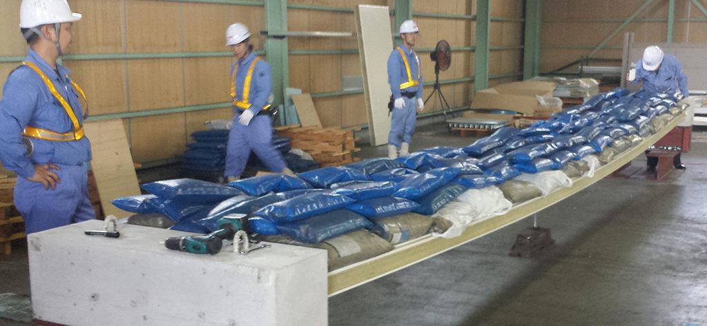 倉庫業法対応曲げ強度試験(加須工場 加工センター)